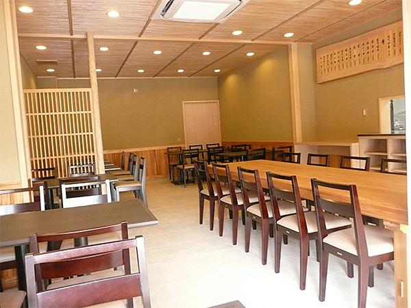 店舗・内部 場所:うどん・そば屋 天井・腰板・内法