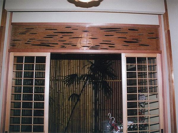 店舗・内部 場所:京料理(京都祇園) 欄間・建具