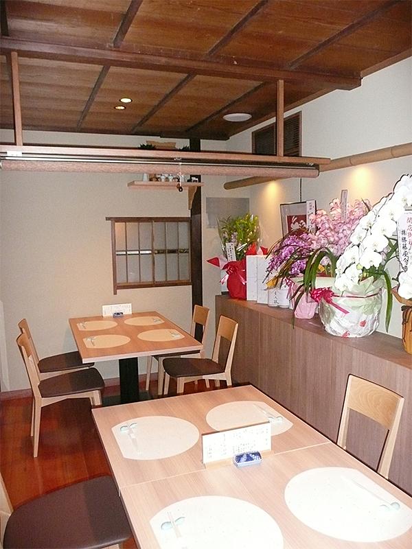 店舗・内部 場所:京料理(京都祇園) 天井・壁止め
